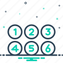 collection, count, digit, many, number, numerous, umpteen icon