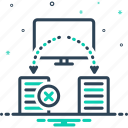 reassign, reassignment, resolution, termination, transition, treatment icon