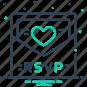 card, invitation, message, rsvp, template icon