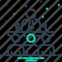 conversation, discussion, meeting, speak, speaking, team icon
