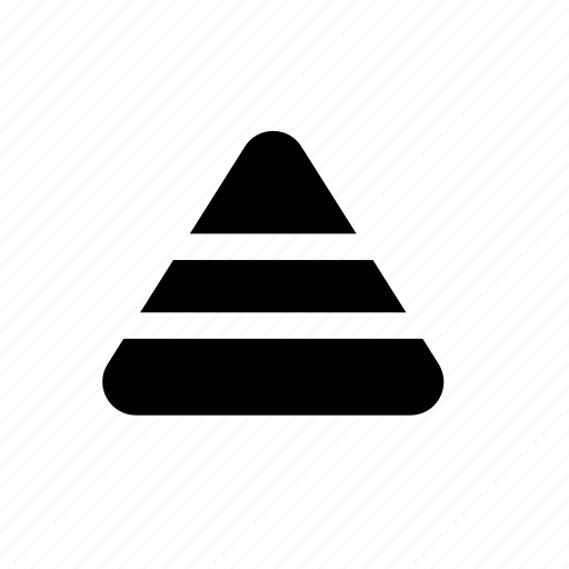 graph, pyramid icon