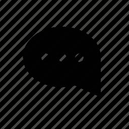 dots, speech icon