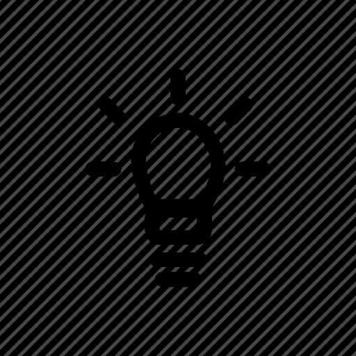 bright, bulb, light, lightbulb, on, shine icon