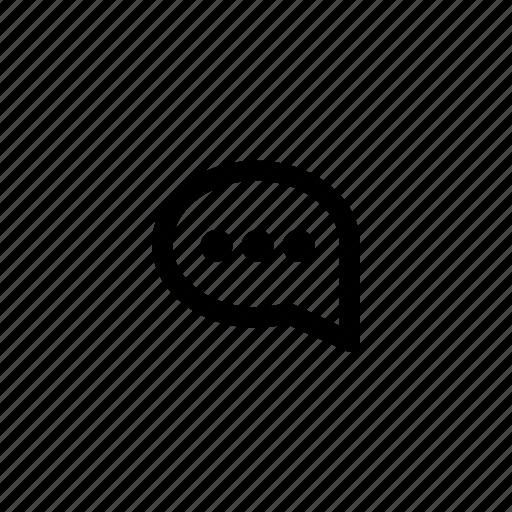 bubble, communicate, dots, message, speech, talk icon
