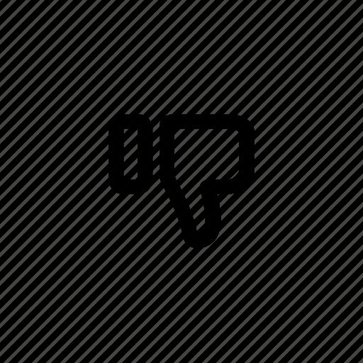 dislike, down, hand, like, thumbs, up icon