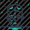 after, before, face, pimple, rejuvenation, skin, wrinkle icon