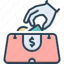 anonymous, pilfer, pocket money, purloin, steal, theft, thieves icon