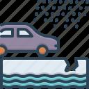 car, event, example, incident, instance, paradigm, rain