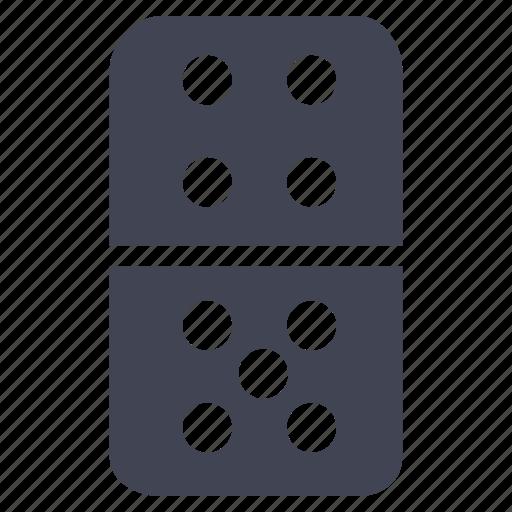 domino, dominos, gambling, gaming, miscellaneous icon