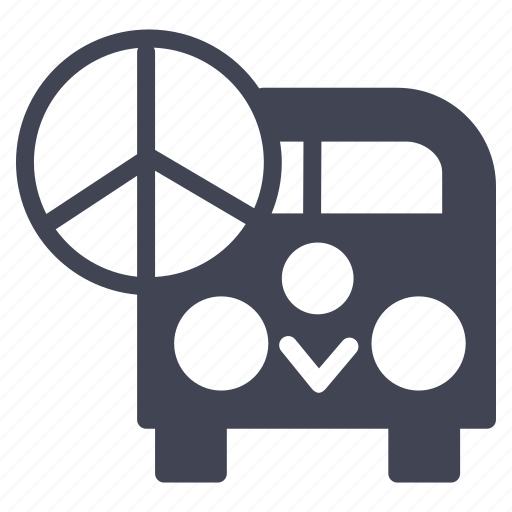 miscellaneous, peace, sign, transportation, van, vehicle icon