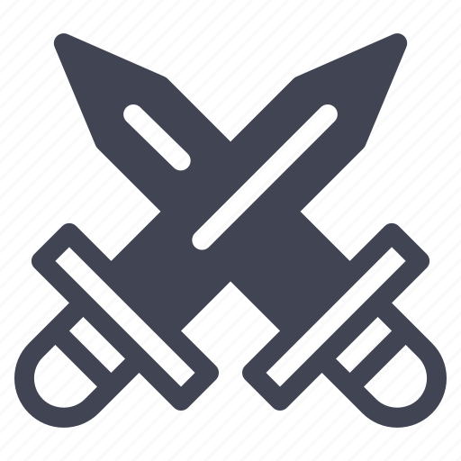 crossed, daggers, gaming, knife, miscellaneous, swords icon