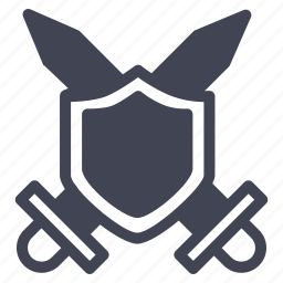 crossed, gaming, knife, miscellaneous, shield, swords icon