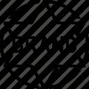brand, label, quality, stamp, sticker, tag, variety icon