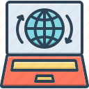 presence, impendence, showing, globe, internet, webpage, access icon