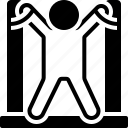 tied up, prisoner icon