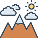 mounts, cloud, top, peak, mountain, nature, hill