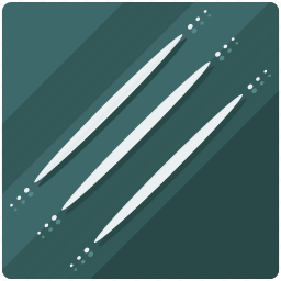 claw, line, lines, marks, miscellaneous icon