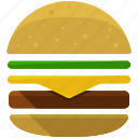 burger, fast, food, hamburger, junk, miscellaneous icon