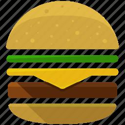 burger, fast, food, hamburger, junk, miscellaneous icon