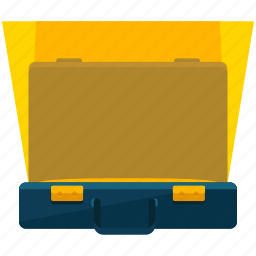 bag, briefcase, case, illuminated, miscellaneous, suitcase icon