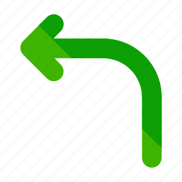 direction, left, miscellaneous, road, street, turn icon