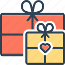 gifts, box, present, giftbox, ribbon, anniversary, package