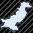 pakistan, country, muslim, landmark, border, capital, map