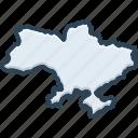 ukraine, kiev, map, area, border, contour, country