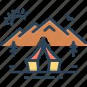 lee, nature, mountain, hut, tent, adventure
