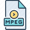 mpeg, data, document, extension, format, filename, folder
