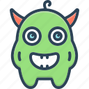 monster, alien, creature, halloween, demon, afraid