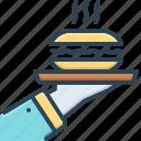 serves, waiter, butlers, breakfasts, meal, restaurant, plate