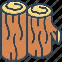 woods, timber, lumber, stack, hardwood, trees