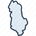 albania, europe, continent, map, border, country, geography