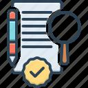 assessing, judge, estimate, define, evaluate, appraise, document