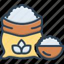 flour, meal, farina, wheat, grain, bread, nutrition