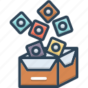 box, gift, packs icon