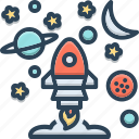 assignment, endeavor, launch, mission, spacecraft, task icon