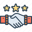 complicity, copartnership, handshake, partnership, teamwork icon