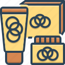bottle, container, cosmetics, package, products icon