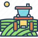 agriculture, farming, field, husbandry, tractor icon