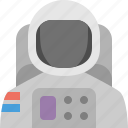 astronaut, moon, skydive icon