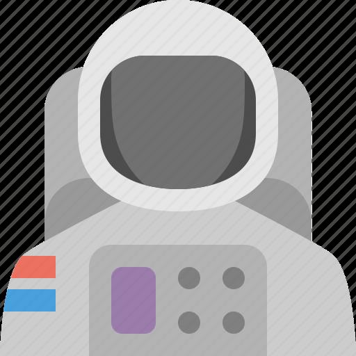 astronaut, moon, skydive icon