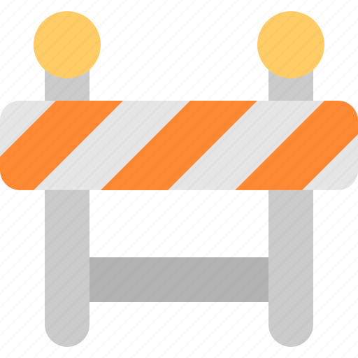 barricade, construction, maintanice, stop icon