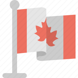 canada, country, flag, stand icon