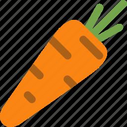 carrot, food, orange, vegetable icon