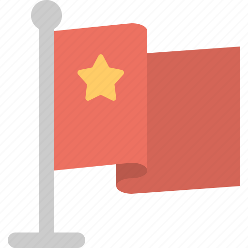 china, chinese, flag, stand icon