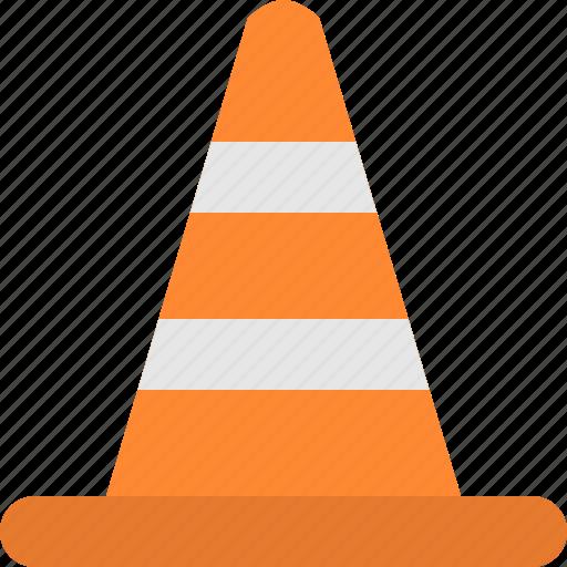 cone, construction, vlc icon