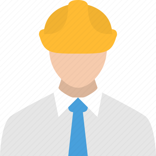 construction, engineer, hat, man icon