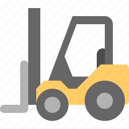 drive, forklift, good, warehouse icon